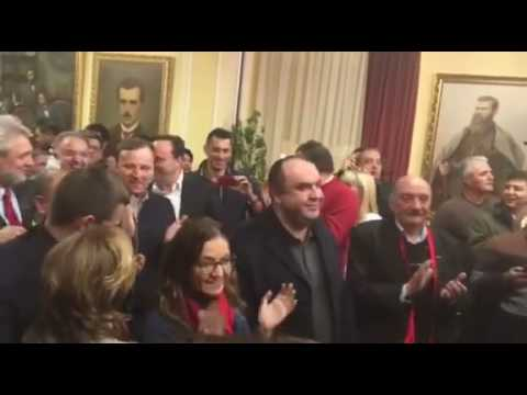Macedonia 2016 Elections: VMRO DPMNE Party Celebrating