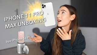 SWITCHING FROM THE IPHONE 6S PLUS TO THE IPHONE 11 PRO MAX UNBOXING