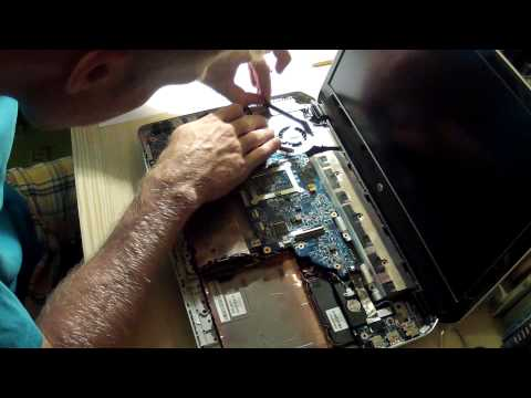 HP Envy DV6 7250 ec Midnight disassembly CPU fan cleaning
