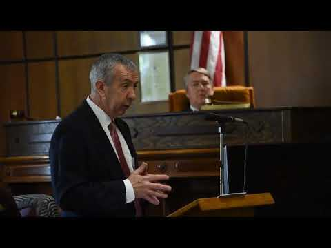 Monroe County Chief Assistant Prosecutor Michael G. Roehrig gives his closing arguments during...