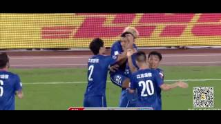 Wang Dalei Funny Epic Fail Jiangsu Sainty VS Shandong Luneng by:FailGoal.com