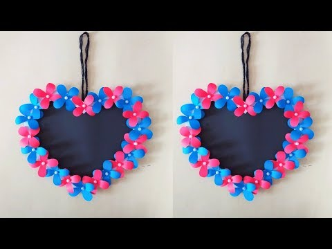 Amazing and Attractive Paper Flower Wall Hanging || Easy Wall decoration ideas 2019