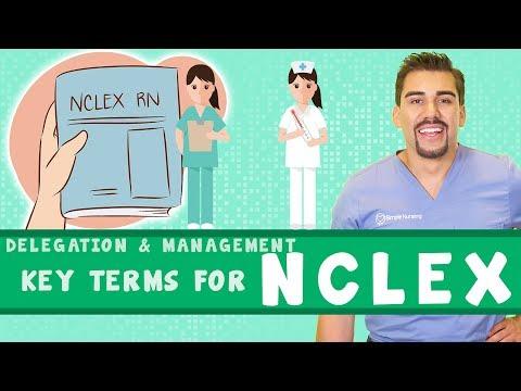 Nursing Delegation 5 key words for NCLEX *Part 5*