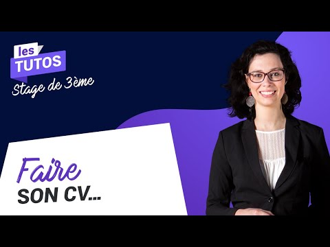 Stage De 3ème Comment Rédiger Un Cv