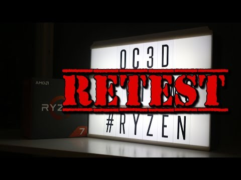 Ryzen 1500X 1600x & 1800x Retest Review - 동영상