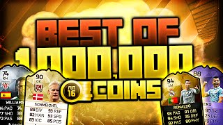 BEST OF ONE MILLION COINS PACK OPENING! FIFA 16 ULTIMATE TEAM
