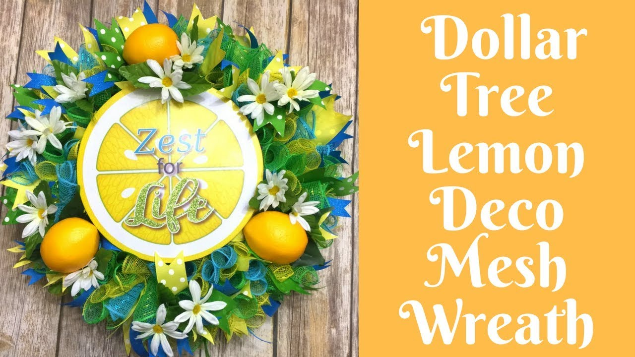 Wonderful Wreaths Summer Lemon Deco Mesh Wreath Youtube
