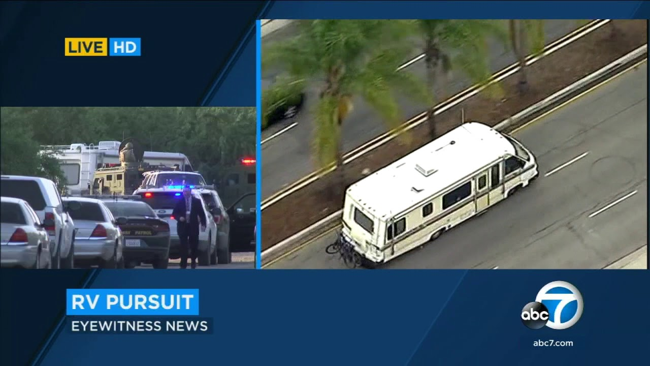 Suspect in RV leads cops on chase from LA to Bakersfield | ABC7