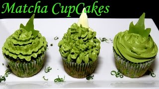 Вкуснейшие #Капкейки с зеленым чаем матча (маття) и нежным кремом cách làm bánh CupCakes trà xanh