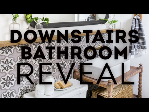 Downstairs Bathroom Reveal / Cottage House Flip Before & After