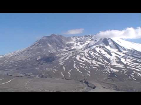 Mt. St. Helens volcano, panoramic view of the Blast Zone