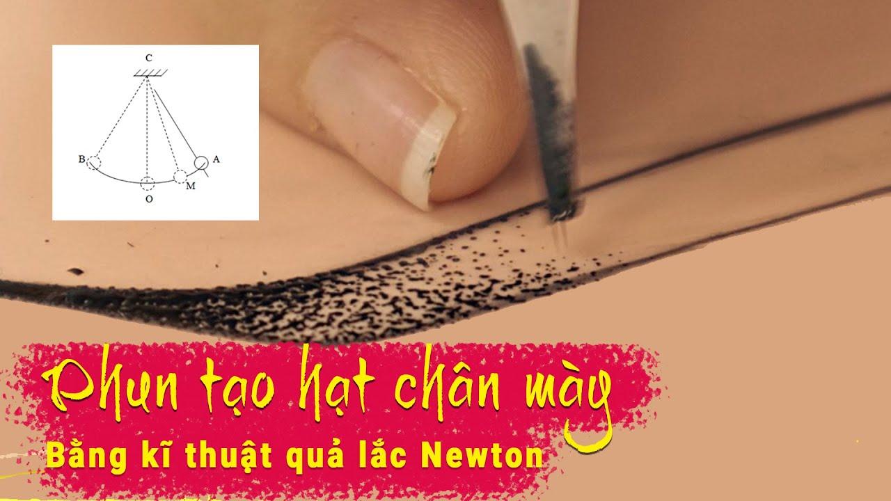 Cách phun chân mày tạo hạt to rải đều bằng kĩ thuật quả lắc | Jolie Nguyen