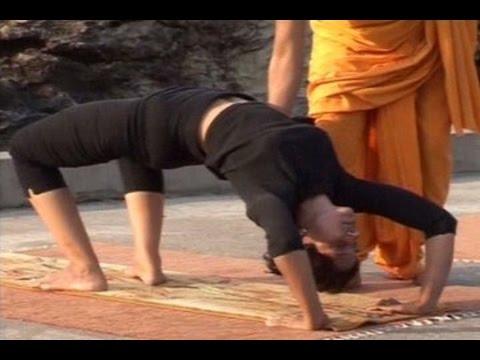 trikonasana chakrasana ustrasana nadi shodhan pranayama