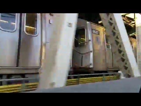 Pacing another N train across the Manhattan Bridge, 11/15/2015