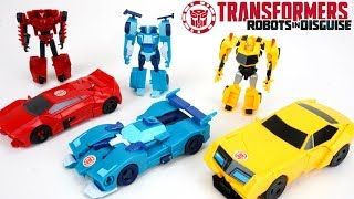 Transformers Robots in Disguise Blurr Bumblebee Sideswipe Legion Class and One Step Changers