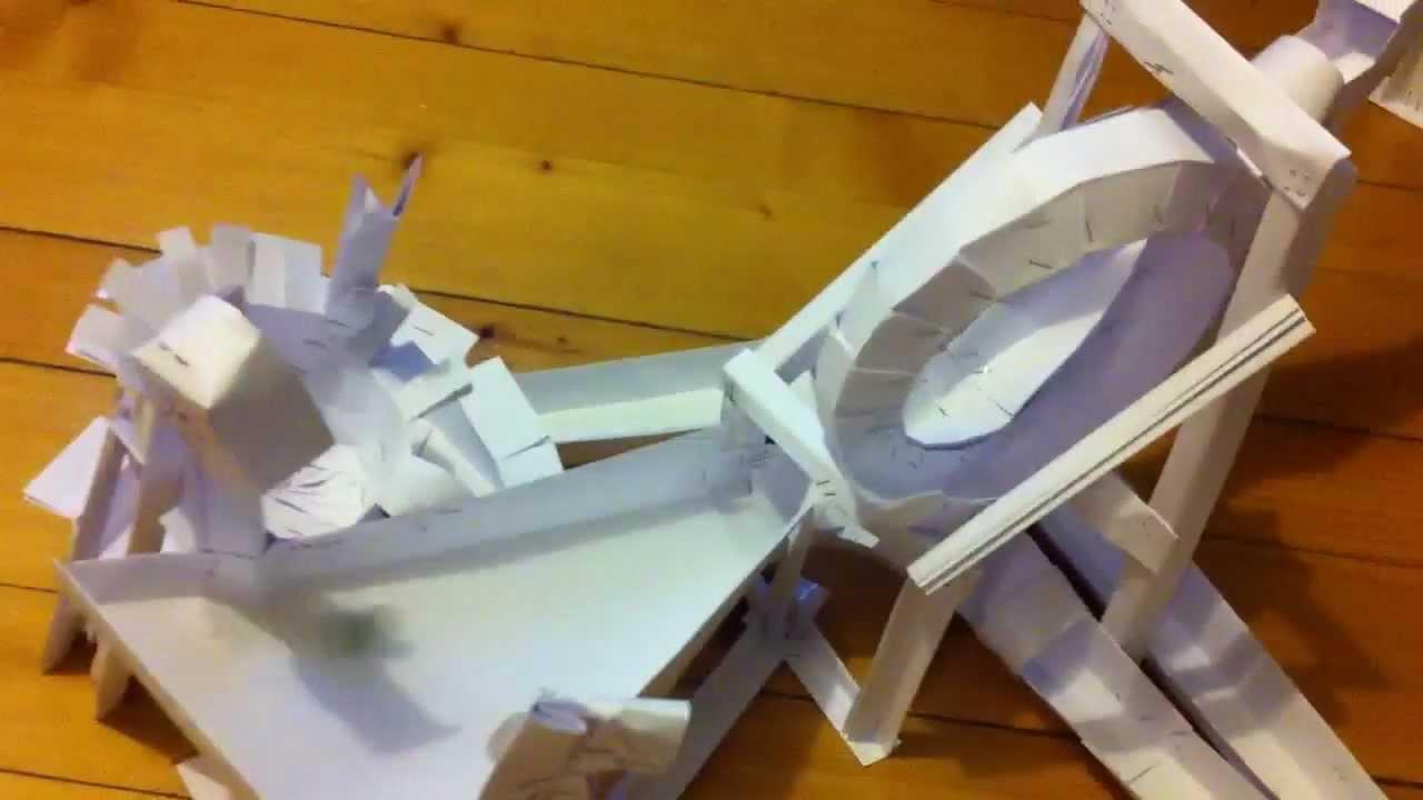 kugelbahn aus papier youtube. Black Bedroom Furniture Sets. Home Design Ideas