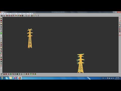3D modelling of power transmition scene