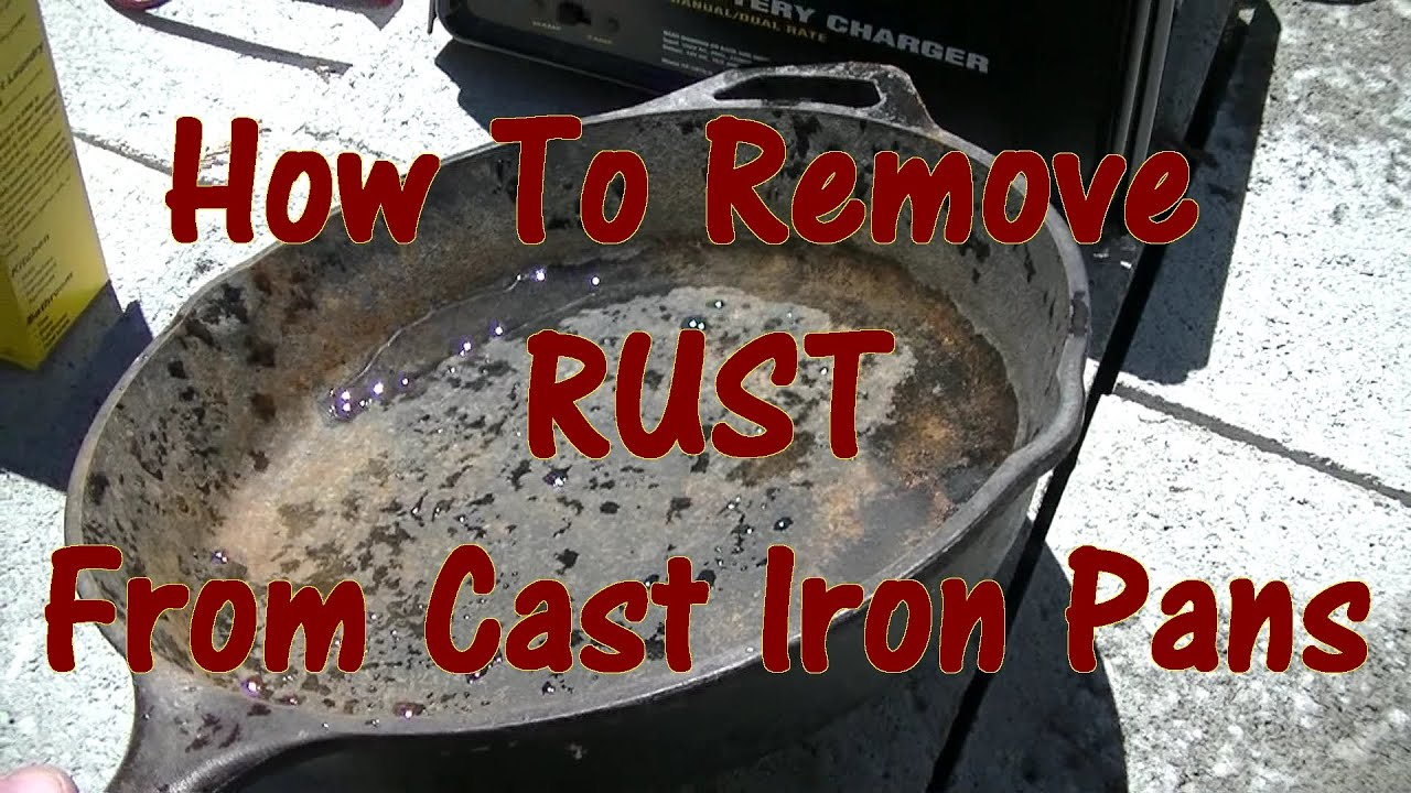 how to remove rust from cast iron pans youtube. Black Bedroom Furniture Sets. Home Design Ideas