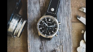 Review: Archimede Pilot Chronograph Trikompax YouTube Videos