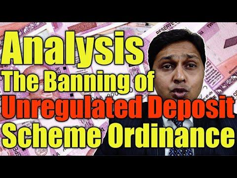 लोन व डिपोजिट स्कीम पर रोक 21-02-2019 - The Banning of Unregulated Deposit Scheme Ordinance