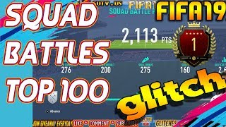 SQUAD BATTLES Glitch Fifa 19 HOW to reach TOP 100 EASYLY for PS4 XBOX PC