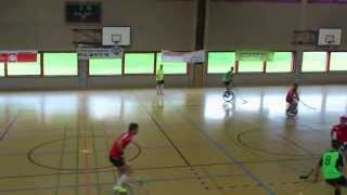Unicycle Hockey Finals - Eurocycle 2013 - Baukau Booglaoos vs. Swiss Team 1