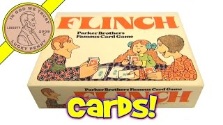 Vintage 1963 Parker Brothers Flinch Famous Numerical Card Game, No. 693