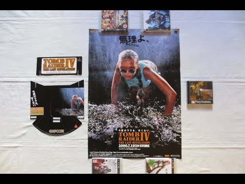 Retro Video Game Promo Collection (PART 105) - Tomb Raider IV Revelation Poster (Core Design,PS1)