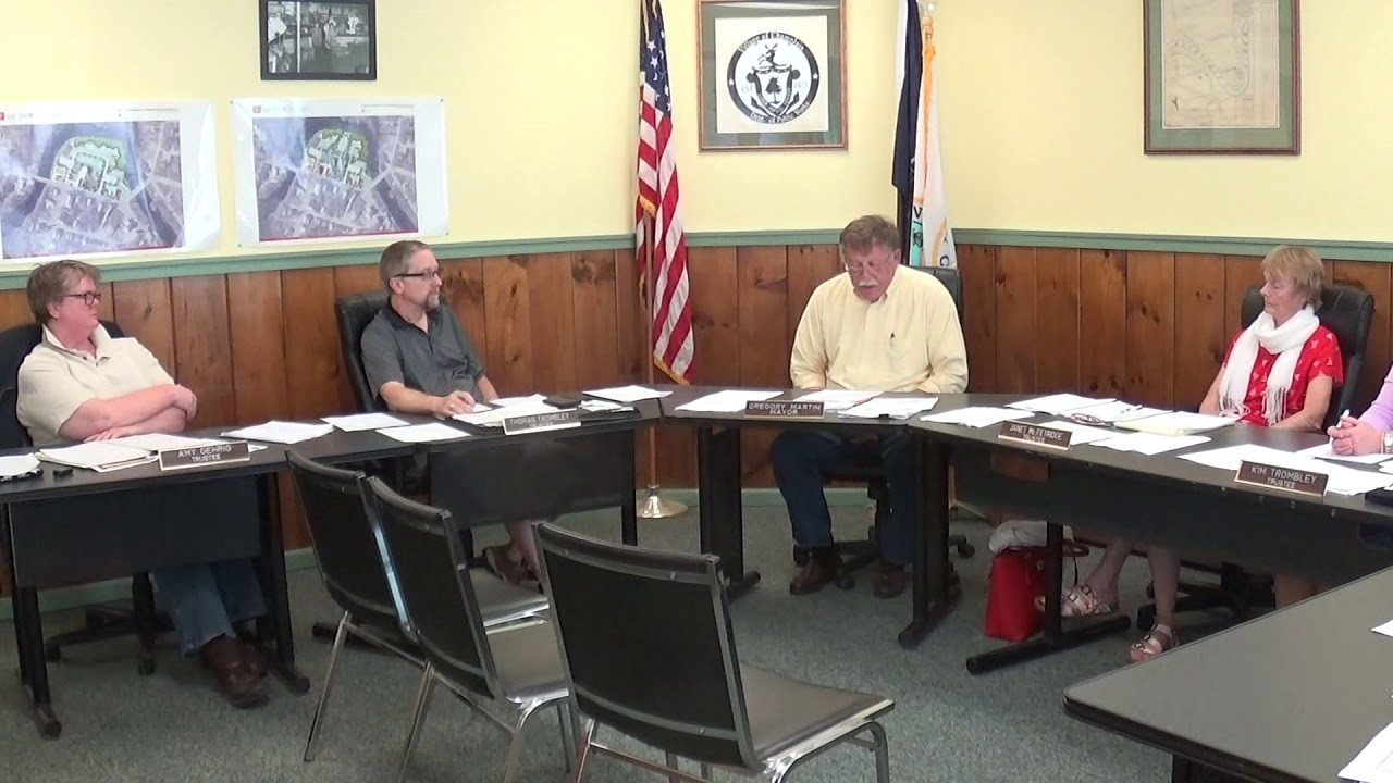 Champlain Village Board Meeting  6-11-18