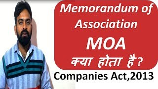 What is Memorandum of Association in Company || What is MOA