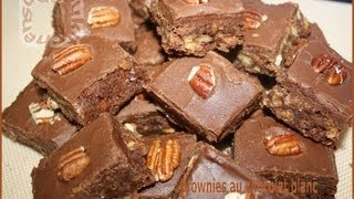 Brownies Au Chocolat Blanc / Brownies With White Chocolate-sousoukitchen