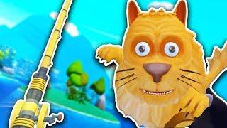 САМАЯ МИЛАЯ РЫБА КОТИК В ВР! - Crazy Fishing VR - HTC Vive ВИРТУАЛЬНАЯ РЕАЛЬНОСТЬ