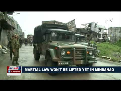Martial Law won't be lifted yet in Mindanao