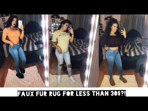 DIY FAUX FUR SELFIE RUG: BAD B*TCH ON A BUDGET