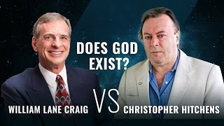 Does God Exist?   William Lane Craig vs Christopher Hitchens