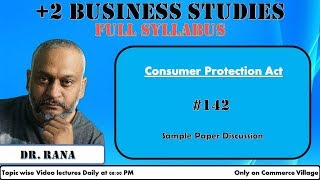 #142 Consumer Protection Act | Business Studies | Sample Paper Discussion