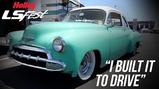 """homepage tile video photo for """"I Built It To Drive"""" - 52' Chevy Sedan - Holley LS Fest West"""