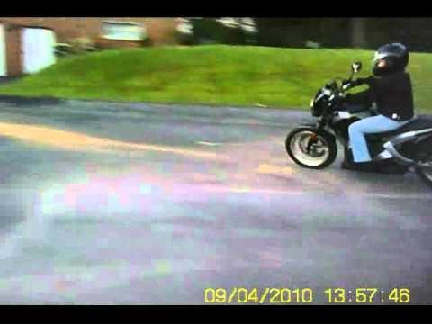 cheys first ride on buell blast - youtube