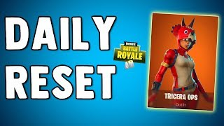 TRICERA OPS SKIN IS BACK!! Fortnite Daily Reset & New Items in Item Shop