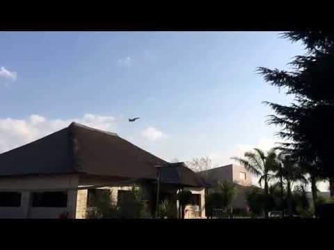 South Africa military jets landing at OR Thambo International