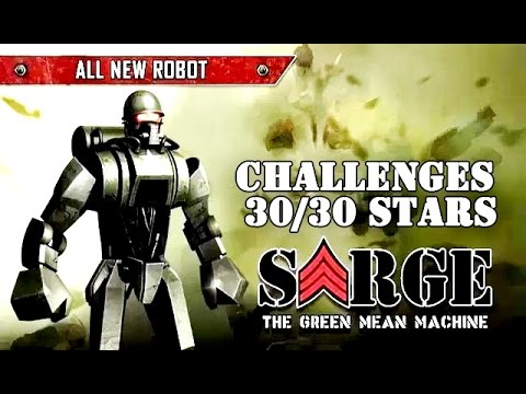 Real Steel Sarge Challenges 30/30 STARS | Series of fights NEW ROBOT (Живая Сталь)