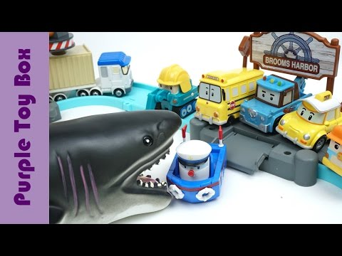 Scary Shark Coming To Harbor  Dinosaur Combination Robot Toys