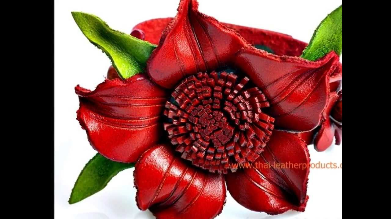 Leather Flower Jewelry Leather Handicrafts Products From Thailand