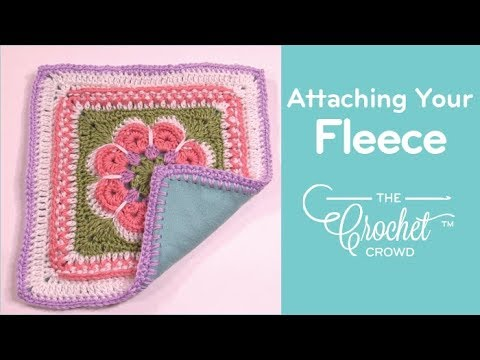 0e1cf7662d9 Step 3 Final Step  Attaching Fleece to Crochet Project - YouTube