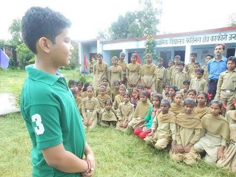 12 year old school boy educating hundreds of slum children in UP