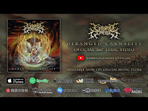 EMBRYO GENESIS - DERANGED CARNALITY (OFFICIAL 360 LYRIC VIDEO)