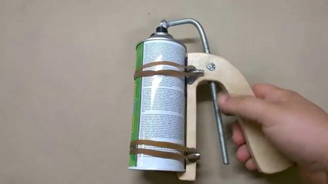 Home Made Wooden Spray Can Gun Handle Youtube
