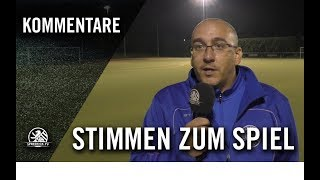 Die Stimmen zum Spiel   1. FC Wilmersdorf U14 – SC Staaken U14 (4. Spieltag, 2. C-Junioren)