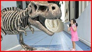 공룡뼈 화석 발굴 중 공룡이 살아났다! 티라노사우루스 공룡 피규어 장난감 놀이 리틀조이
