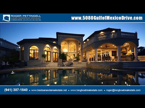 Luxury bayfront estate for sale at 5080 Gulf of Mexico Drive, Longboat Key, Florida